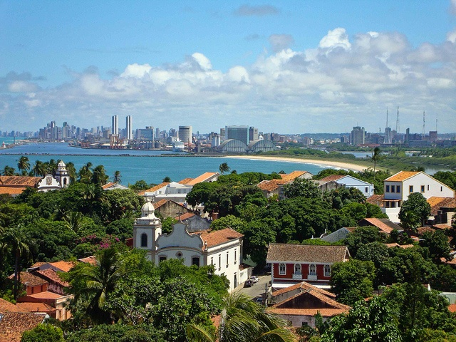 View from Olinda to the city of Recife, Brazil