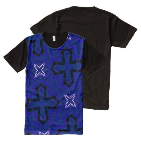 blue cool modern unique pattern All-Over-Print T-Shirt - tap, personalize, buy right now!