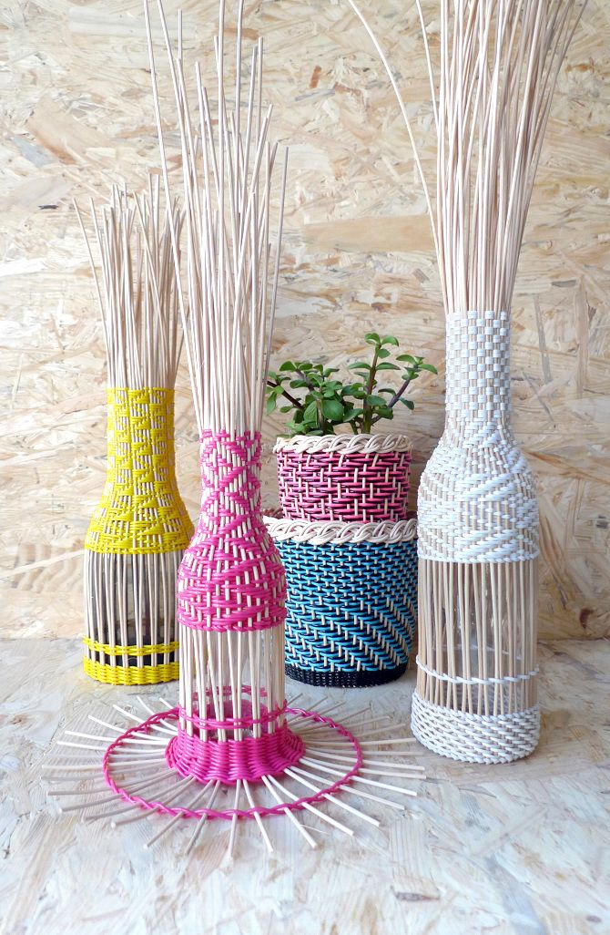 Tressage en cours / Hélène Lefeuvre #basketry #weaving #designtextile