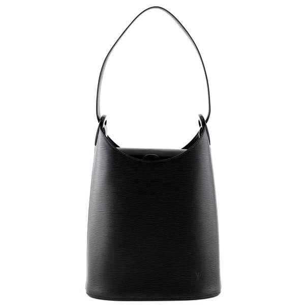 Louis Vuitton Black Epi Verseau Bucket Bag Love That Bag Preowned Authentic Designer Handbags Authentic Designer Handbags Purses And Bags Bags Designer