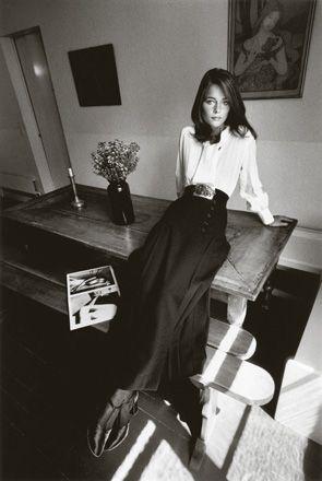 Charlotte Rampling, mode Yves Saint Laurent,Paris, Vogue France, 1970 ©...