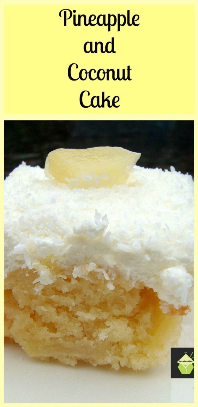 Pineapple and Coconut Cake - This is a pure delight to eat! Come and see what I do to make this cake such a dream. | Lovefoodies.com
