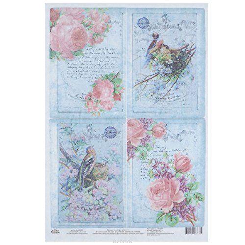 Carta di riso per decoupage. Splendidi uccelli con rose s... https://www.amazon.it/dp/B01L51S59U/ref=cm_sw_r_pi_dp_x_WKZSyb5Q8FZJ4
