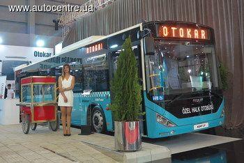 На стенде турецкого производителя Otokar представили широкий модельный ряд автобусов, в том числе и недавно появившиеся модели.