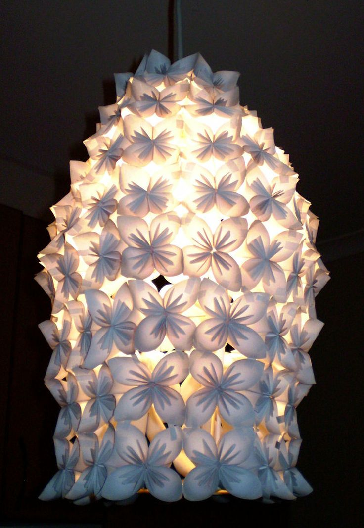 Pretty and sculptural paper light fitting.