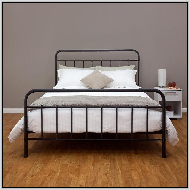 black metal bed frame black metal bed frame queen bedroom design home design reference - Steel Bed Frames