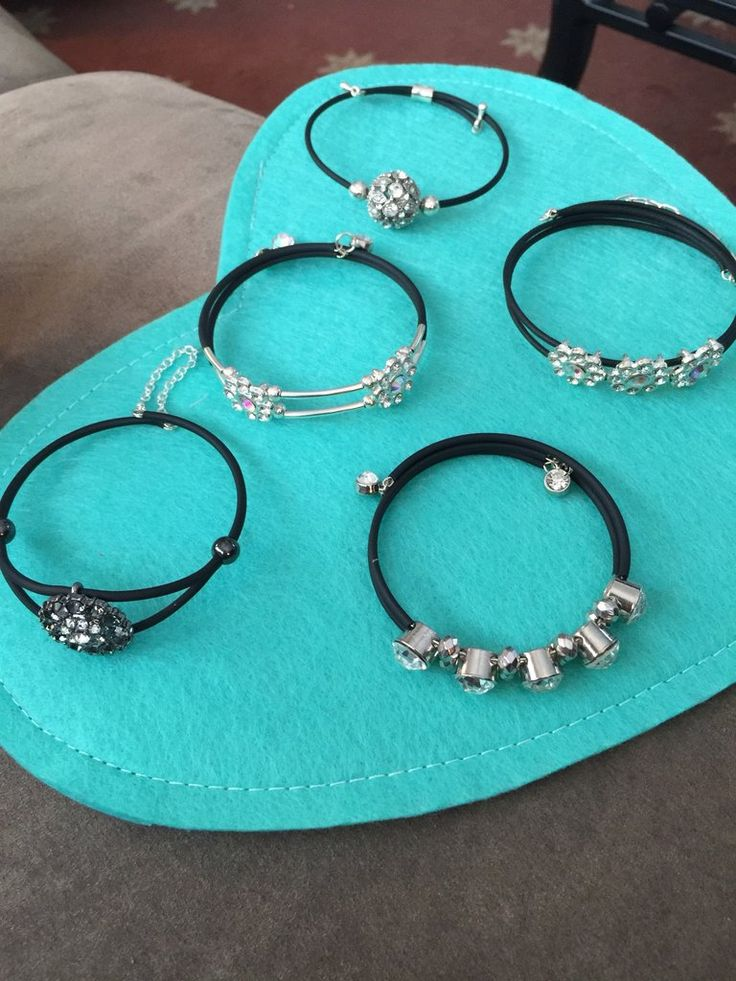 Elegant Beaded Memory Wire Bracelet with Rubber Tubing – JustVal Jewelry