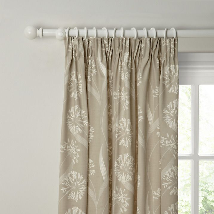 Buy Maggie Levien for John Lewis Ariana Lined Pencil Pleat Curtains, Neutral, W167 x Drop 137cm Online at johnlewis.com