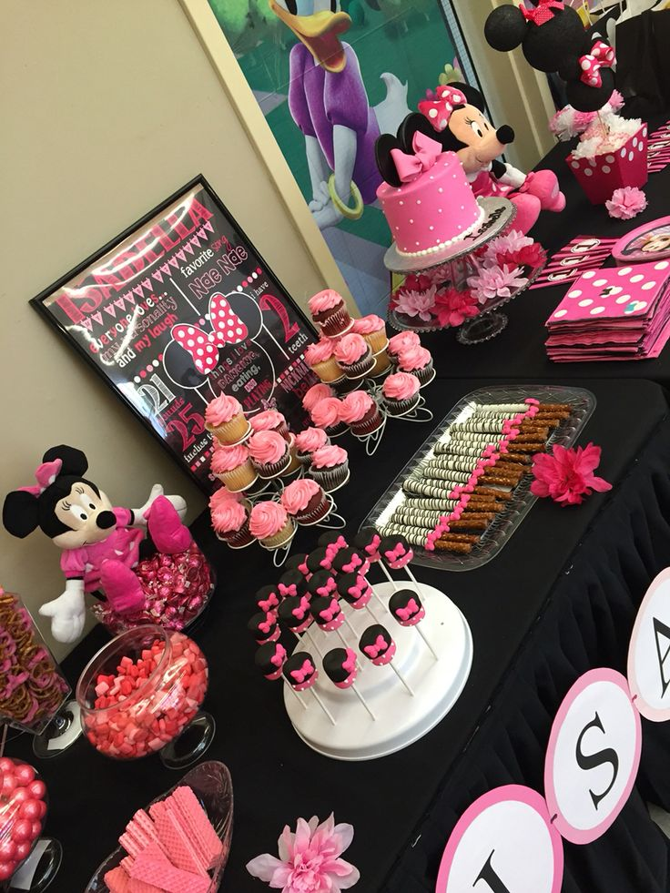 Minnie Mouse Candy Table Candy Tables Pinterest Mice