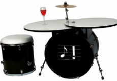 Bass drum table with drum stool: Ideas, Drum Sets, Drums, Musical Furniture, Music Room