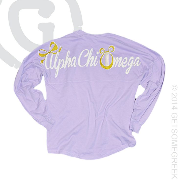 ALPHA CHI OMEGA SORORITY BOW & COASTAL GOLD METALLIC & LIGHT PURPLE COASTAL JERSEY! HOW CUTE! GETSOMEGREEK & ALPHA CHI!
