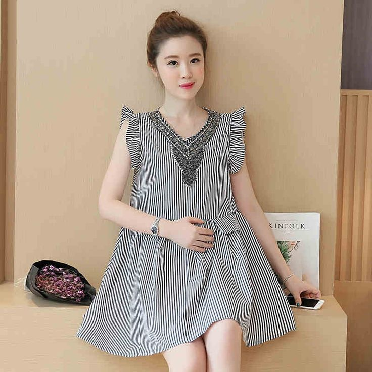 29.34$  Watch more here  - Sundress For Pregnant Women Clothes Roupa Gestante Striped Maternity Dress Skirt Tunic Wear Big Sizes Premama Pregnancy 502106