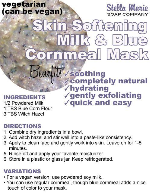 Milk and Blue Cornmeal Mask