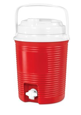 Innovative Technology Rechargeable Bluetooth Waterproof Speaker Cooler With Built-In 4400 Battery Charger - Red - One Size