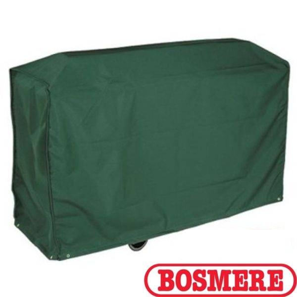 The Bosmere Trolley BBQ Cover keeps your barbecue clean and dry. The cover is made from top quality PVC making it 100% waterproof and backed polyester which has been UV stabilised against the sun. It has a wipe clean surface for easy cleaning. It protects from sudden summer showers winter weather and is secure in windy conditions.