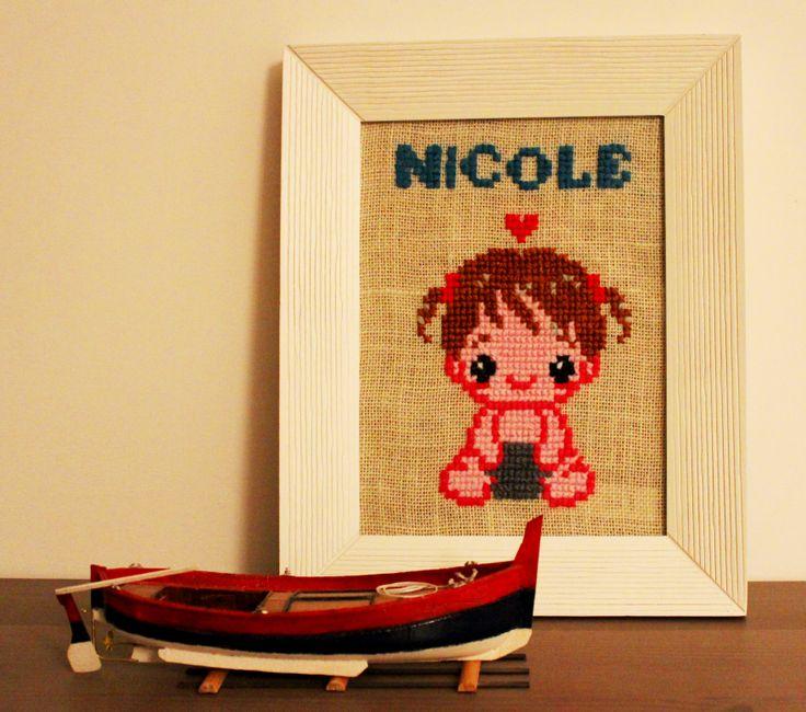Cross stitch board.