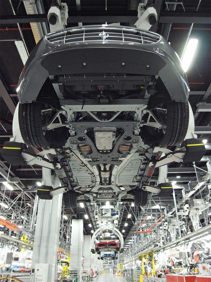 ferrari factory tour: assembly line