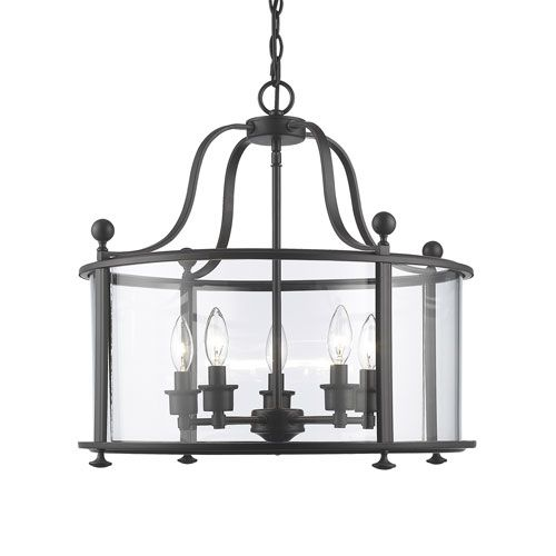 Wyndham Bronze Five Light Lantern Pendant Z Lite Lighting Ceiling