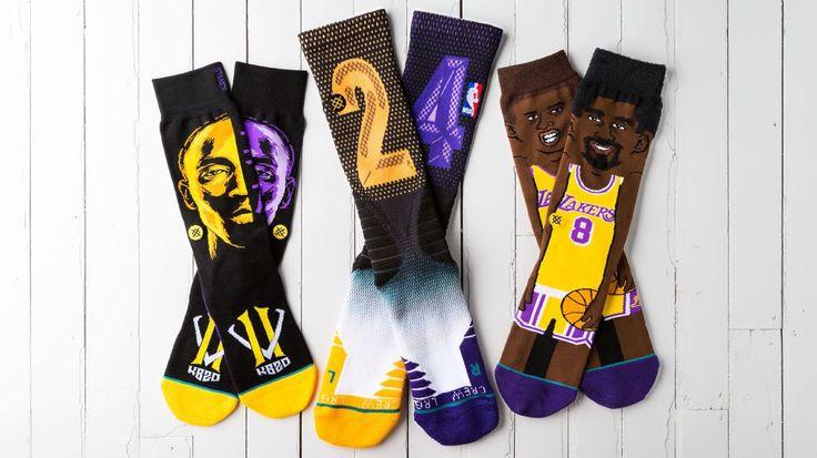 Lakers wear Kobe Bryant-themed socks vs. Warriors, an NBA first