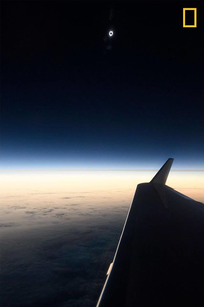 View From A Plane Over The Pacific Ocean