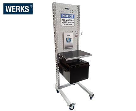 WERKS Sign In Desk. Buy Workshop & Factory Online - Materials Handling - Backsafe Australia: https://www.backsafeaustralia.com.au/products/workshop-factory