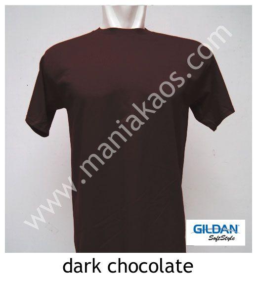 Kaos Gildan SoftStyle Warna Dark Chocolate / Coklat Tua