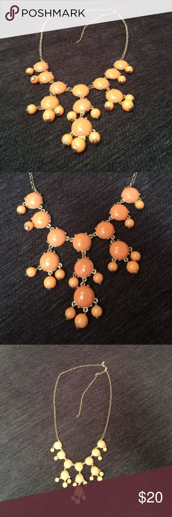 """JCrew Adjustable peach bubble necklace up to 31"""". JCrew Adjustable peach bubble necklace extends up to 31"""".  Gold in color. Costume jewelry. J. Crew Jewelry Necklaces"""