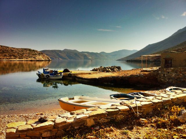 Charming Agios Pavlos small harbour !