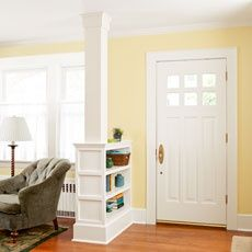 Open up vestibule and replace with a unit that mirrors the current passage from LR to library