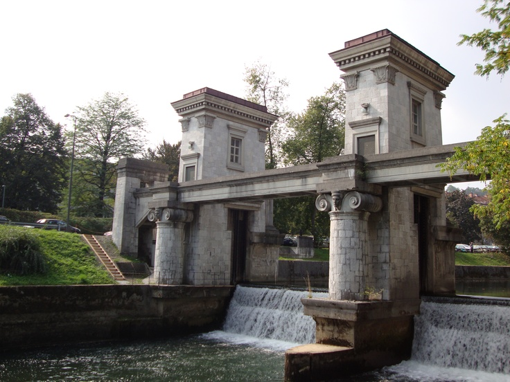 A bridge by Jože Plečnik
