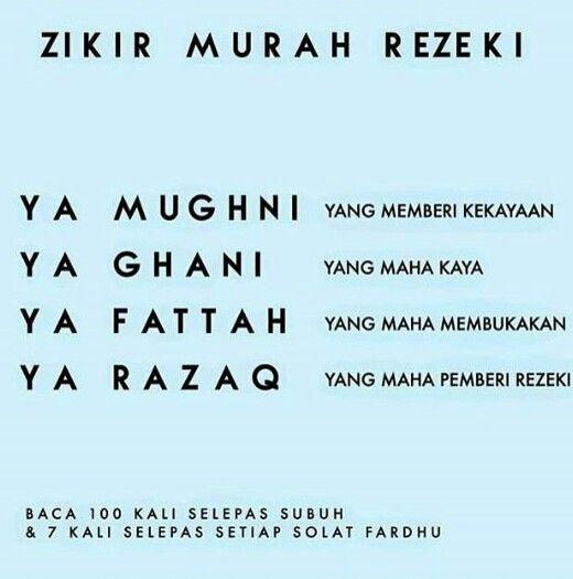 Zikir Murah Rezeki