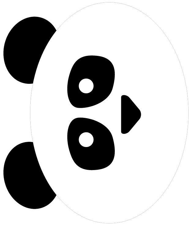 Best 25 panda bear crafts ideas on pinterest zoo crafts for Panda bear cake template