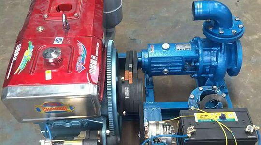 stationary horizontal agricultural diesel engine centrifugal pump