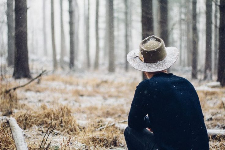 Guy with the Hat in the Forest | picmelon
