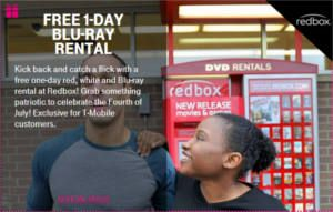 FREE Redbox Blu-Ray Rental and More for T-Mobile Customers on http://www.icravefreebies.com/