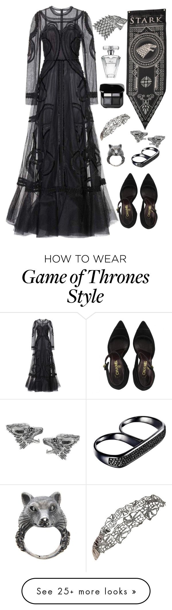 """""""Winter is Coming // House Stark"""" by mrs-malfoy on Polyvore featuring Dolce&Gabbana, Ugo Cacciatori, Chanel, Journee Collection, AS29, Avon, dolceandgabbana, GameOfThrones and HouseStark"""