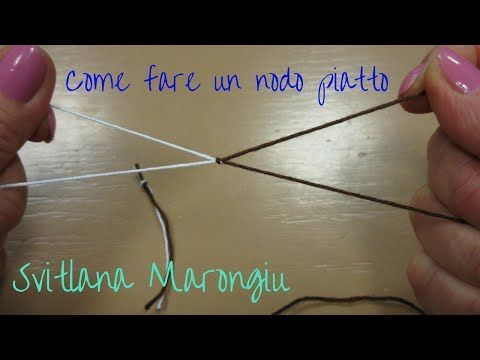 Tutorial: Come bordare un lavoro a ferri o all'uncinetto con la spighetta rumena - YouTube