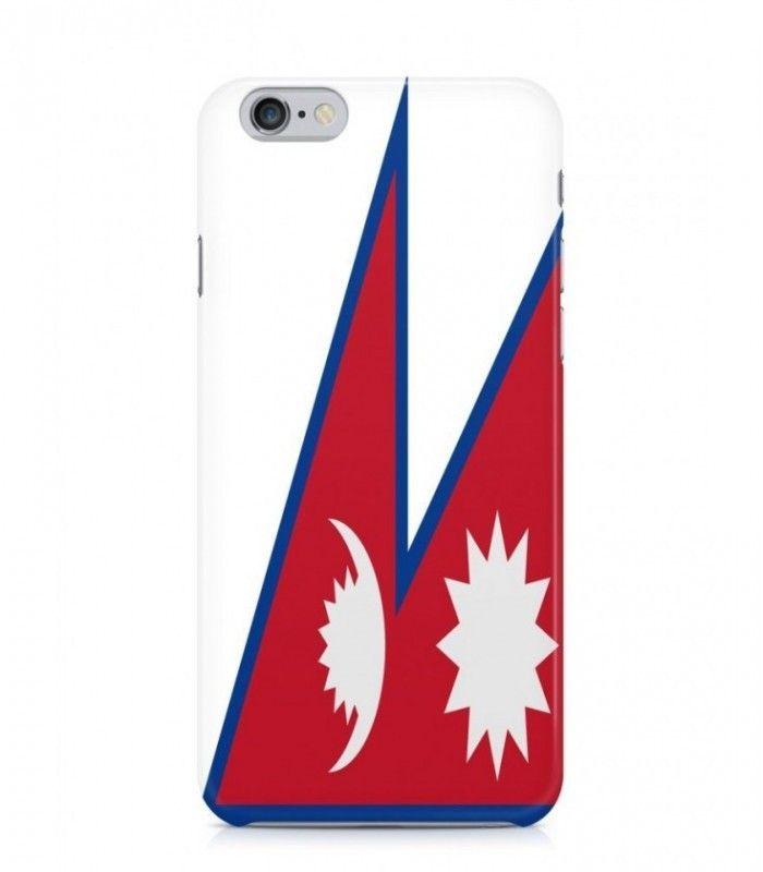 Nepali or Nepalese Flag 3D Iphone Case for Iphone 3G/4/4g/4s/5/5s/6/6s/6s Plus - FLAG-NP-2 - FavCases