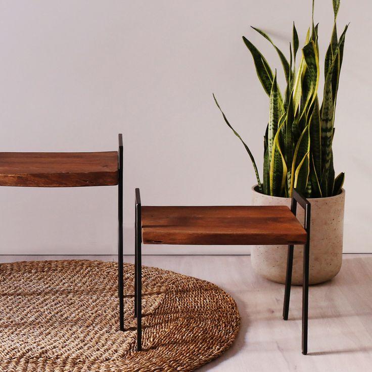 Table gigogne core tapis coco et plante sansevieria - Tapis chauffant pour plante ...