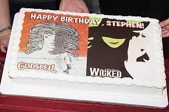 Composer Stephen Schwartz's GODSPELL and WICKED-themed birthday cake!