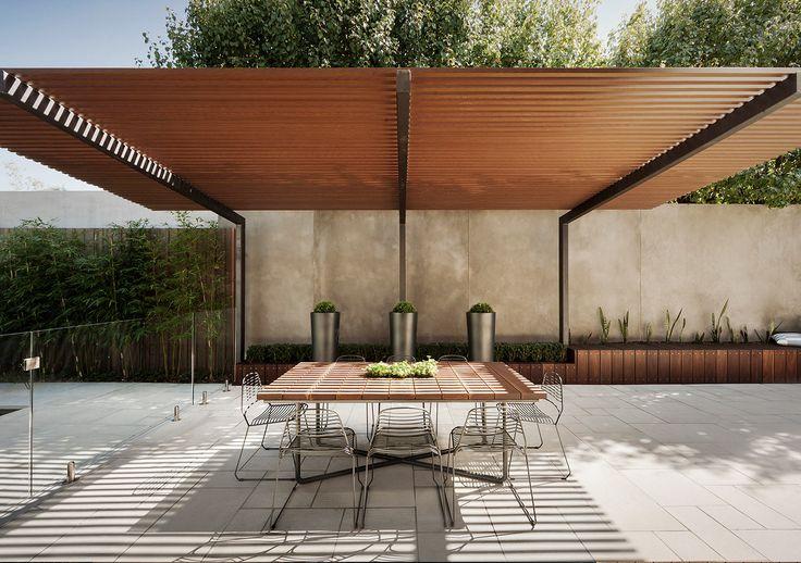 Malvern Project | Nathan Burkett Design pergola - block out the neighbours!