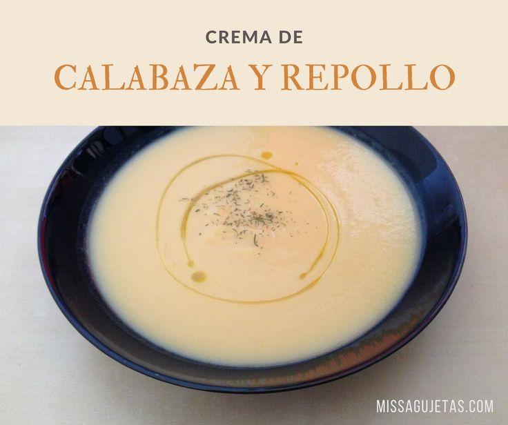 La crema de calabaza y repollo es suave, deliciosa y baja en calorías. Un entrante perfecto para un menú sano con mucho sabor.