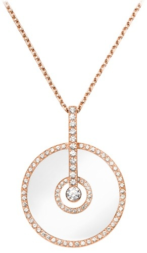 Pink gold Chalcedony Diamond Pendant - Piaget Luxury Jewellery