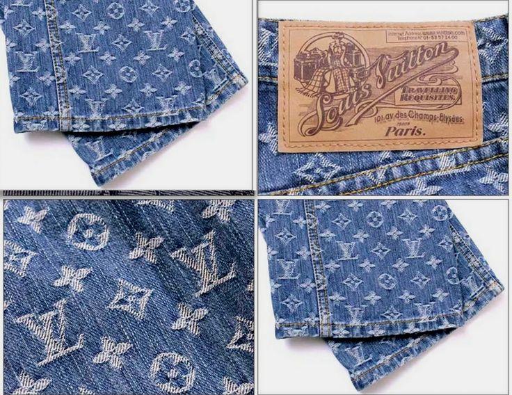 Louis-Vuitton-Monogram-Denim-Jeans-Sz-2-(28)-RARE-blue-jeans - Copy - Copy