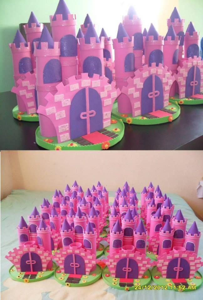 Castillo Princesas Dulceros Infantiles Dulceros