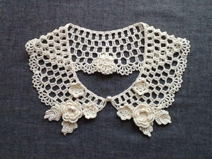 レース編み*付け襟の画像1枚目