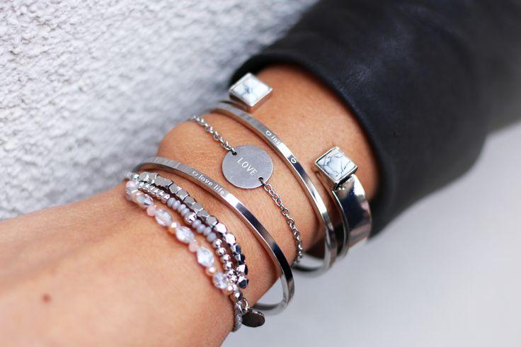 Beautiful silver armcandy of My Jewellery via www.my-jewellery.com