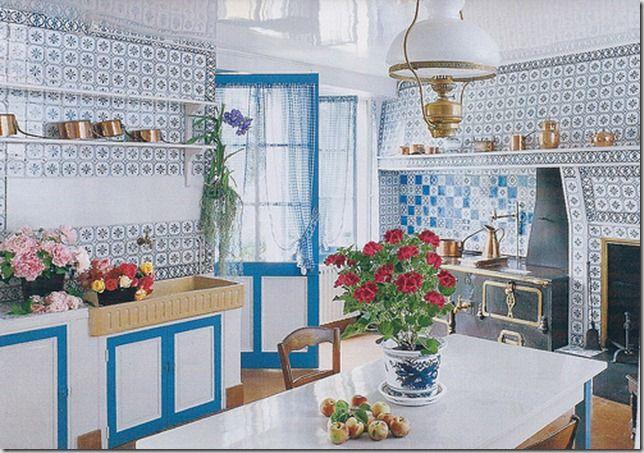 Cozinha azul do Monet