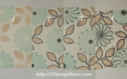 "quick photos show how to do the ""doodling technique"" with solid stamps and a marker ... make your own background paper .... Stampin' Up!"