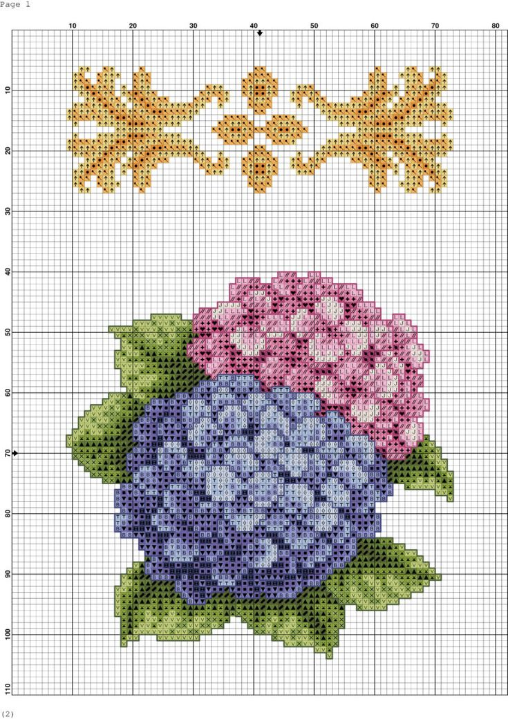 Etamin Çiçek Deseni Şablonları (31)